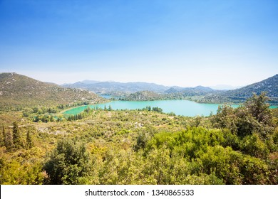 Bacina Lakes, Dalmatia, Croatia, Europe - Viewpoint lookout upon the beautiful Bacina Lakes