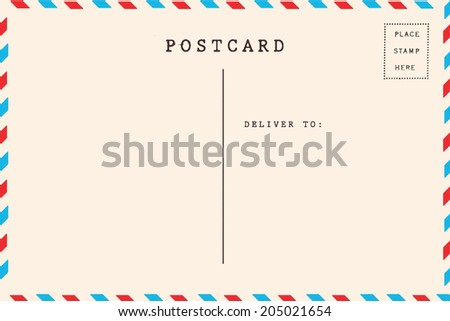 back airmail blank postcard stock photo edit now 205021654