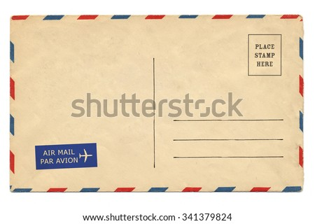 back airmail blank postcard stock photo edit now 341379824