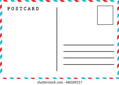 vector template reverse side postcard postcode のベクター画像素材