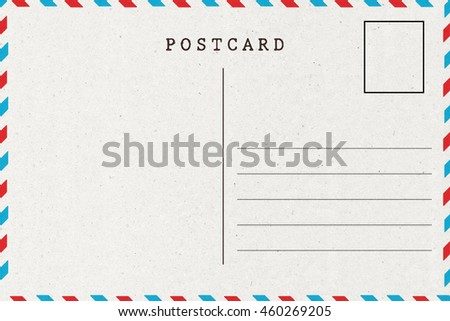 back airmail blank postcard template stock photo edit now