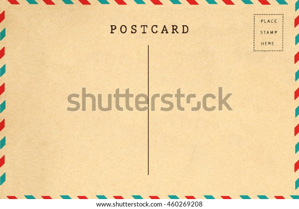 Back Airmail Blank Postcard Template Stock Photo (Edit Now