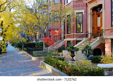 Back Bay, Boston in the fall