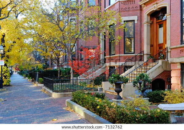 Back Bay, Boston in the fall