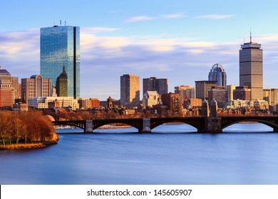 Back Bay Boston Skyline on a Summer Afternoon