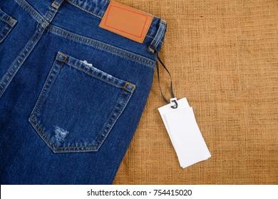 Back of blue Jeans denim -light natural linen texture background