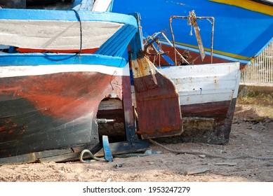 Back of a boat. Lampedusa, summer 2009.
