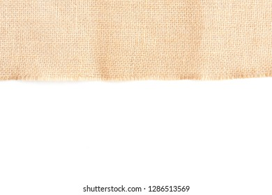 Back brown Fabric canvas texture isolate background with blank space for text design. Clean yellow beige Hessian sackcloth wool pleat woven concept cream sack pattern color, retro plain cotton cloth.
