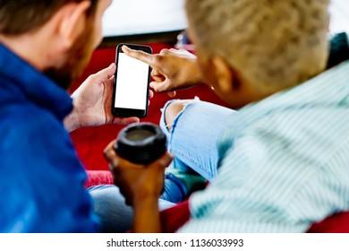 Businessman Use Mobile Phone Short Note Stock Photo (Edit