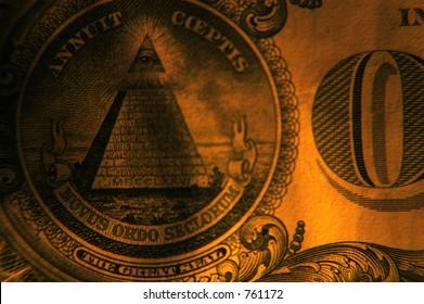 back of dollar shaded