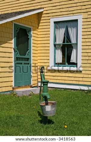Back Door Old Country House Old Stock Photo Edit Now 3418563