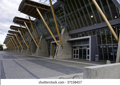 Back entry way for Richmond Olympic oval.