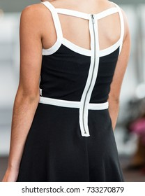 Back of Fashion Model
