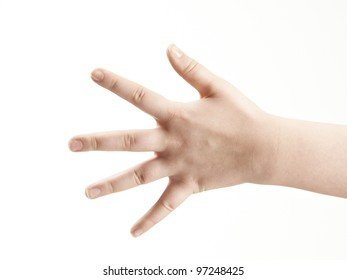 Back of hand - fingers spread