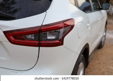 The Back Headlight of the Nissan Qhasqai