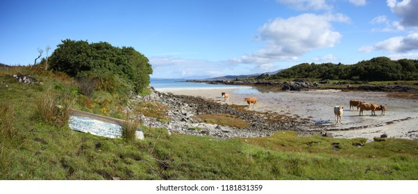Back of Keppoch in Arisaig in the Highlands of Scotland.