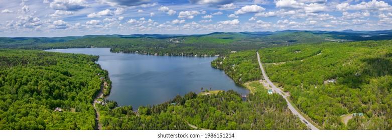 Back Lake Pittsburg New Hampshire Panorama