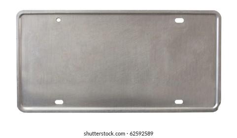 back of license plate - brushed metal