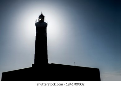 back light shot of lighthouse of nouadhibou in mauritania