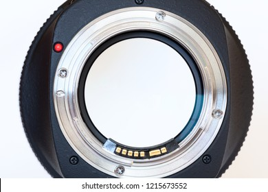 Back of the Luxury photo lens.