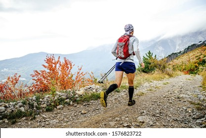back male runner run ultra trail marathon