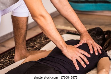 Back Massage on the floor