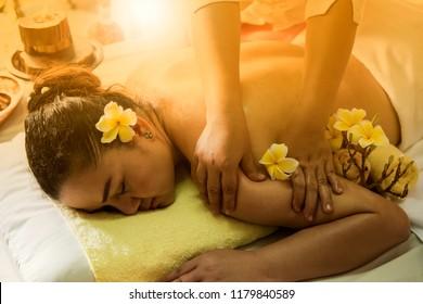 Back massage ,Thai massage for relaxation