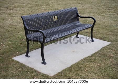 Back Metal Park Bench Stock Photo Edit Now 1048273036 Shutterstock