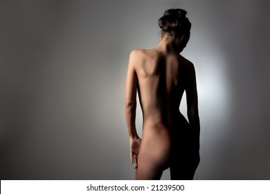 back of a naked woman
