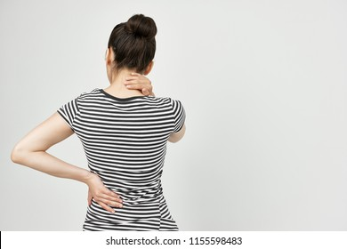 back pain and lower back view