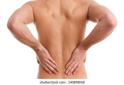 Back pain.Medical concept
