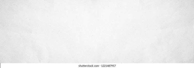 Back Panorama gray eco drawing paper kraft background texture in soft white light color concept for page line wide screen wallpaper design, flat rice grey limestone for panoramic wall. plain cement