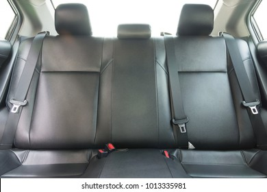 Back passenger seats in modern luxury car