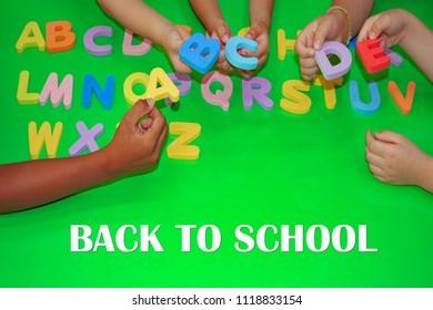 Back to School ABC Phonics Children Alphabet