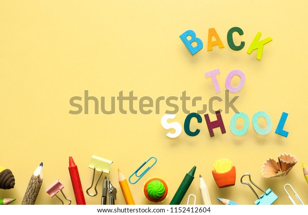 Back to school background concept.