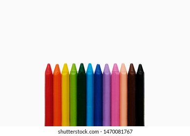 Back to school background. Сolors of the rainbow pencils. Colorful school supplies.