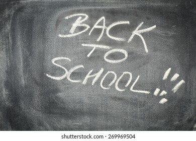back to school and blackboard