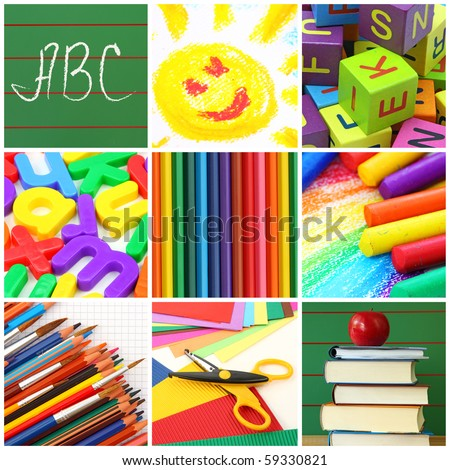 Back School Collage Stock Photo Edit Now 59330821 Shutterstock
