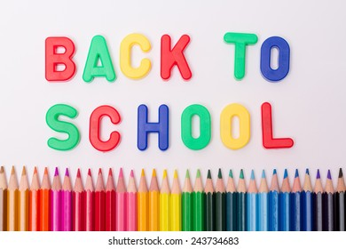 Back to school with colored pencil