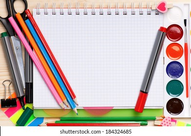 Back to school concept - office and student accessories