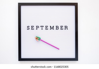 Back to school concept. September notice on message board