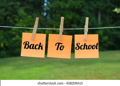 back to school concept. starting school. summer break ending.