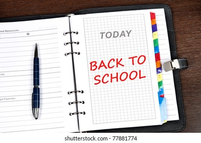 Back to school message on today page