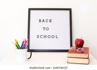 Back to school notice on message board