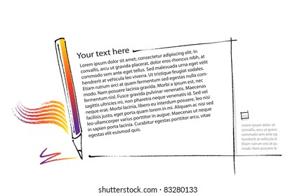 back to school - page layout template (raster version of vector artwork)