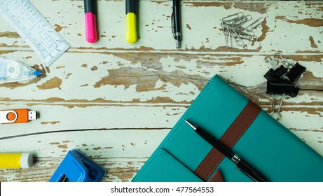 Back to school, Stationery background, Office supplies
