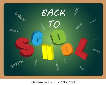 Back to school vector on board background