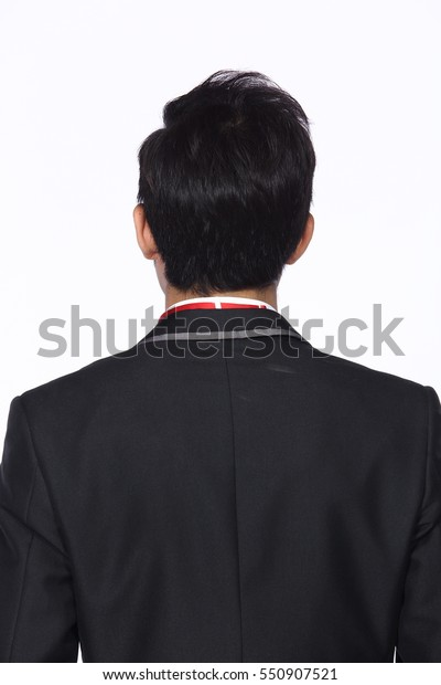 Back Side Man After Hair Style Stock Photo Edit Now 550907521