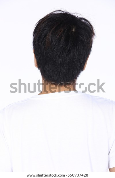 Back Side Man Before Hair Style Stock Photo Edit Now 550907428