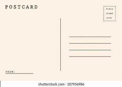 Back side of postcard.